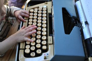 little hands on typewriter