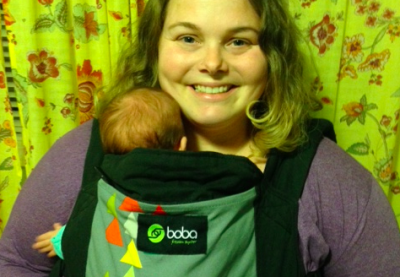 The Boba Carrier on The Green Mama