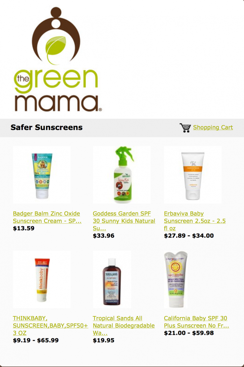 Sunscreen Store