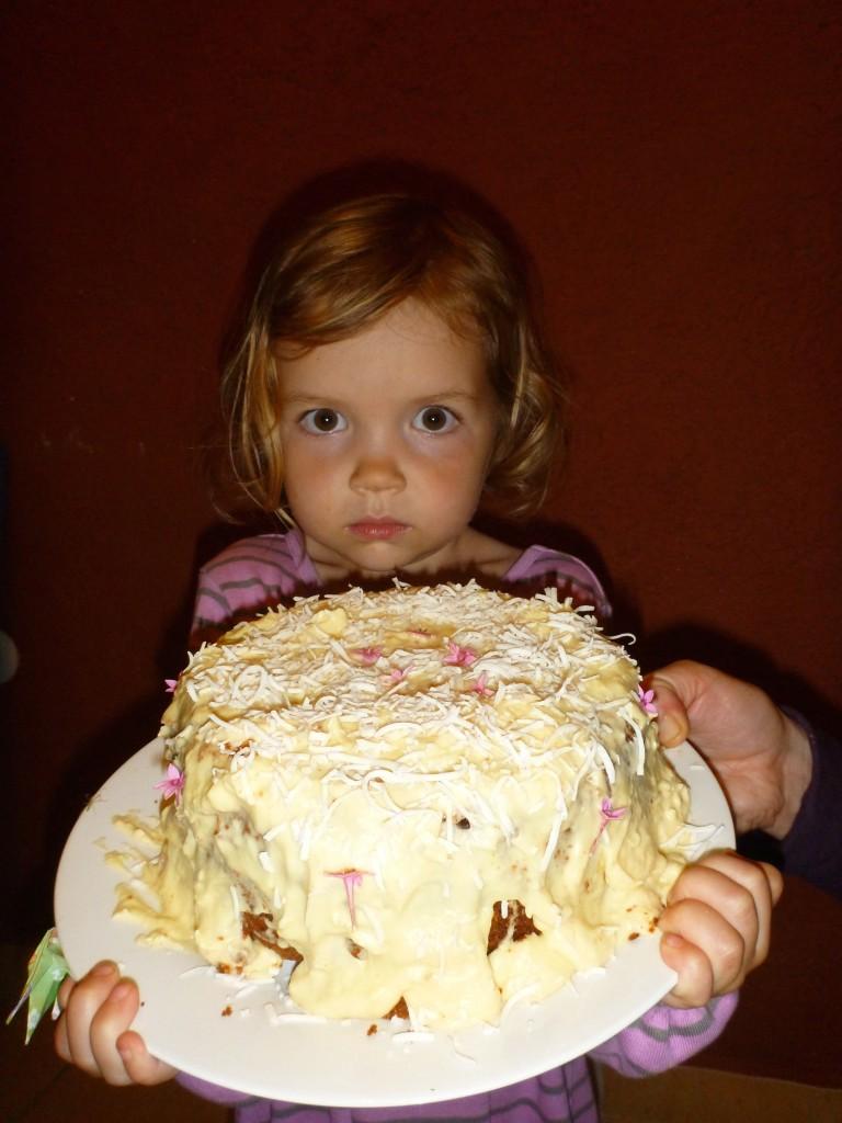 Maela and cake